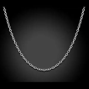 """24"""" 925 STERLING SILVER ROLO CHAIN"""